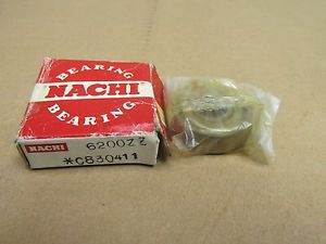 high temperature NIB NACHI 6200ZZ BALL BEARING DOUBLE METAL SHIELD 6200Z 6200 Z ZZ 10x30x9 mm