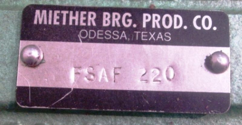 high temperature MIETHER BRG PROD CO FSAF-220 HOUSING & FAG 22220EASMC3 BEARING