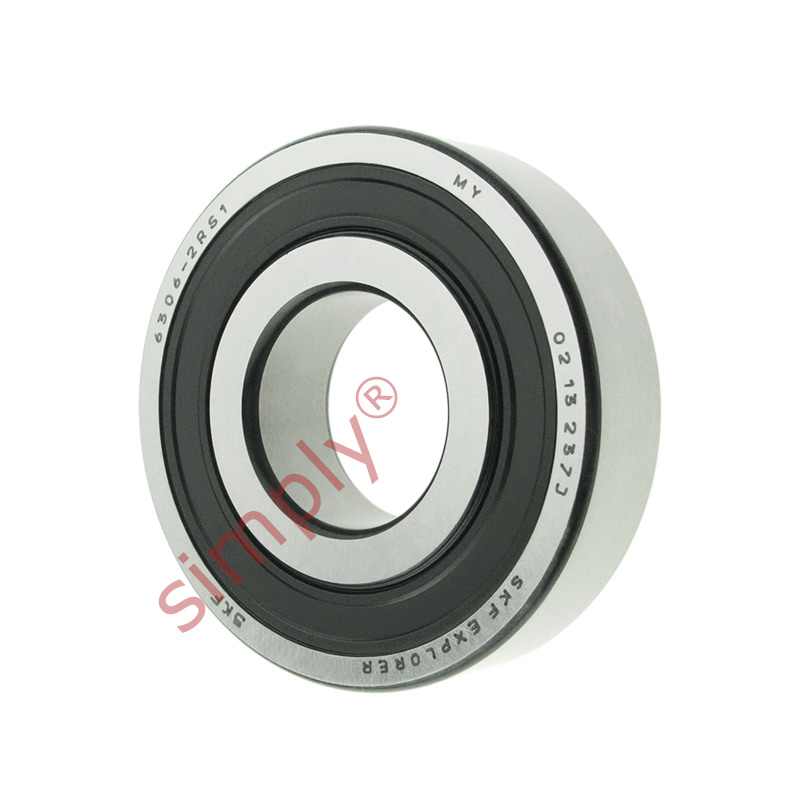 high temperature SKF 63062RS1 Rubber Sealed Deep Groove Ball Bearing 30x72x19mm
