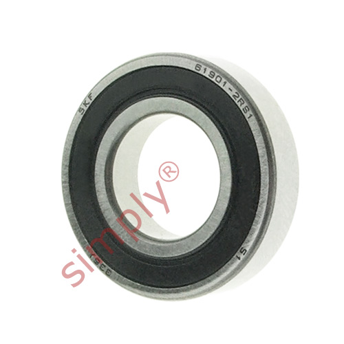 high temperature SKF 69012RS1 Rubber Sealed Thin Section Deep Groove Ball Bearing 12x24x6mm