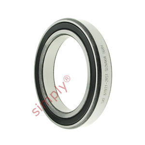 high temperature SKF 619112RS1 Rubber Sealed Thin Section Deep Groove Ball Bearing 55x80x13mm