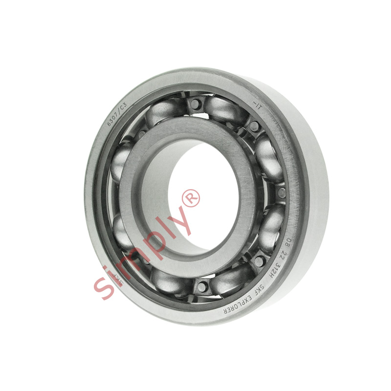 high temperature SKF 6307C3 Open Deep Groove Ball Bearing 35x80x21mm