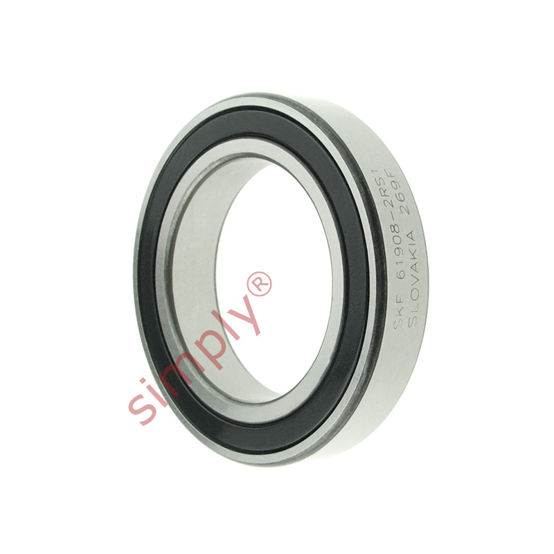 high temperature SKF 69082RS1 Rubber Sealed Thin Section Deep Groove Ball Bearing 40x62x12mm