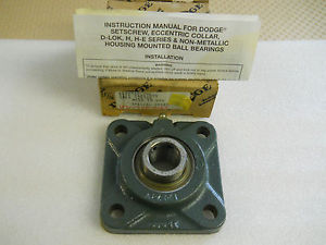 "high temperature DODGE 124102 F4BSC015 15/16"" HOUSING MOUNTED BALL BEARING  CONDITION IN BOX"