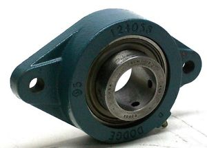 "high temperature NNB DODGE 124056 2 BOLT FLANGE BEARING 1 1/2"" BORE 7 1/8"" LENGTH W/GREASE FTG MK"