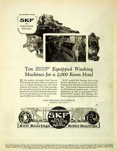high temperature 1926 Ad SKF Industrial Roller Ball Bearings Hotel Washing Machines SCA5