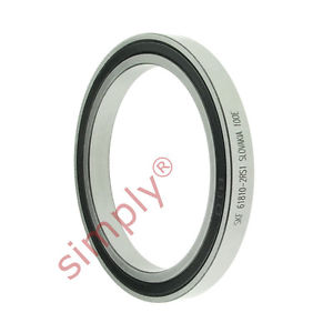 high temperature SKF 618102RS1 Rubber Sealed Thin Section Deep Groove Ball Bearing 50x65x7mm