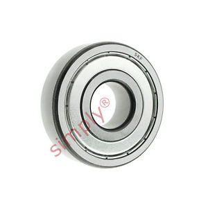 high temperature SKF 60002ZTN9C3LT Metal Shielded Deep Groove Ball Bearing Poly Cage 10x26x8mm