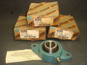 "high temperature Dodge 2-Bolt Flange Bearing Unit 1 1/8"" F2B-SC-102 124274  IN BOX"