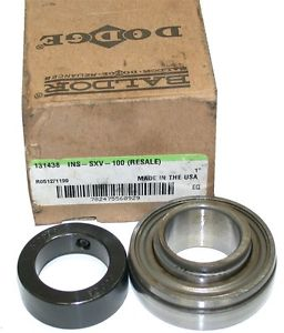 """high temperature UP TO 4  DODGE 131438 1"""" INSERT COLLAR BEARINGS INS-SXV-100"""