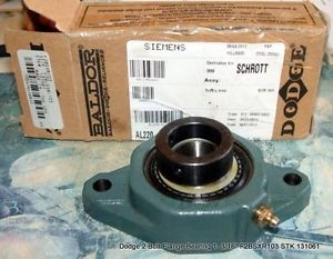 "high temperature Dodge 2 Bolt Flange Bearing 1- 3/16"" F2BSXR103 STK131061 FREE SHIPPING!"
