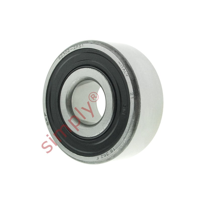 high temperature SKF 623022RS1 Rubber Sealed Deep Groove Ball Bearing 15x42x17mm