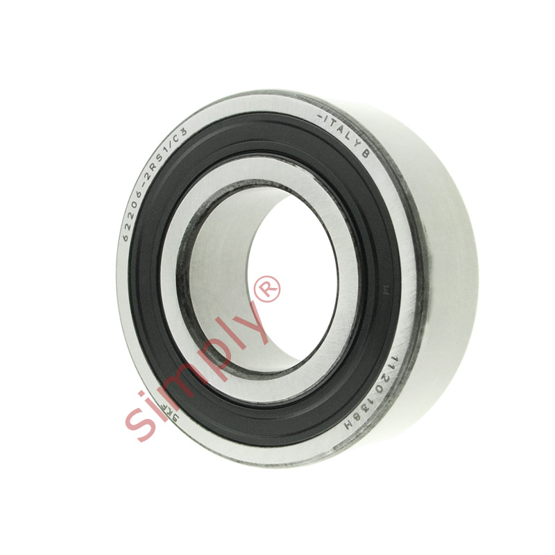 high temperature SKF 622062RS1C3 Rubber Sealed Deep Groove Ball Bearing 30x62x20mm
