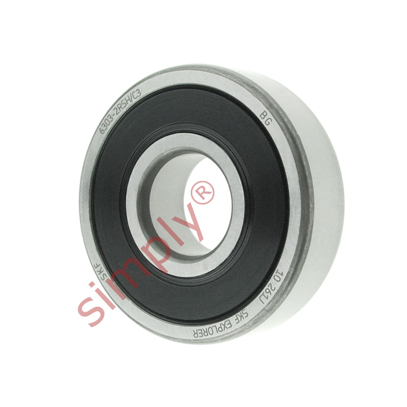 high temperature SKF 63032RSHC3 Rubber Sealed Deep Groove Ball Bearing 17x47x14mm