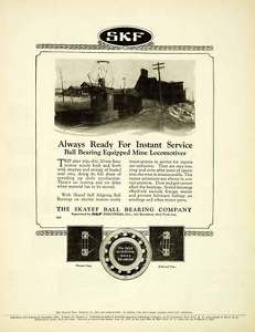 high temperature 1924 Ad SKF Skayef Self Aligning Ball Bearings Industries Locomotive Train SCA4