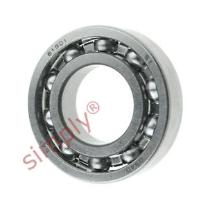 high temperature SKF 61901 Open Type Thin Section Deep Groove Ball Bearing 12x24x6mm