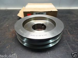 "high temperature  Dodge 118228 Sheave 2 Grooves V-Belt Pulley 7.15"" OD Taper Locking Bore"