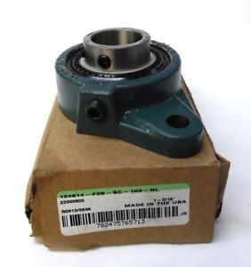 """high temperature DODGE FLANGE MOUNT BALL BEARING UNIT 124614, 1-3/16"""" ID., OVERALL LENGTH 3.13"""""""