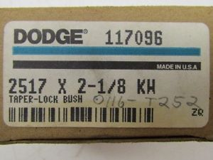 "high temperature Dodge 2517×2 1/8"" KW Taper Lock Bushing 2 1/8"" Bore 117096 Browning Martin Woods"