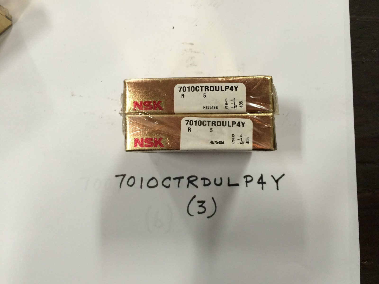 high temperature NSK 7010CTRDULP4Y Bearing New in Box