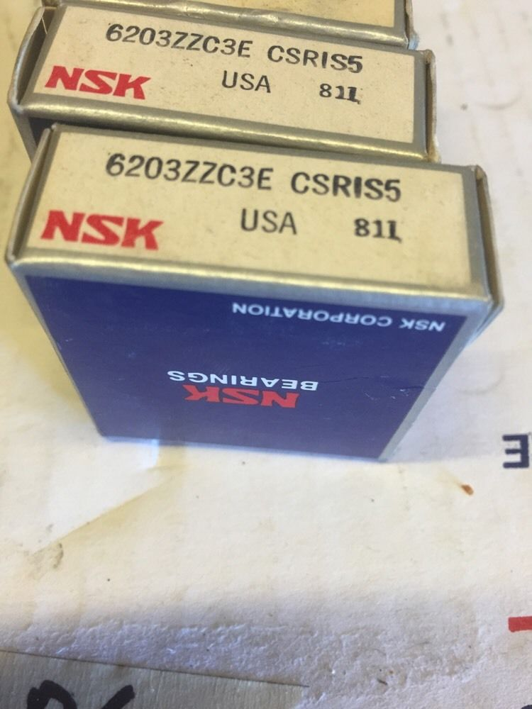 high temperature New Lot Of 4 NSK 6203ZZCSE CSRIS5 Shielded BALL BEARING Warranty! Fast Shipping!