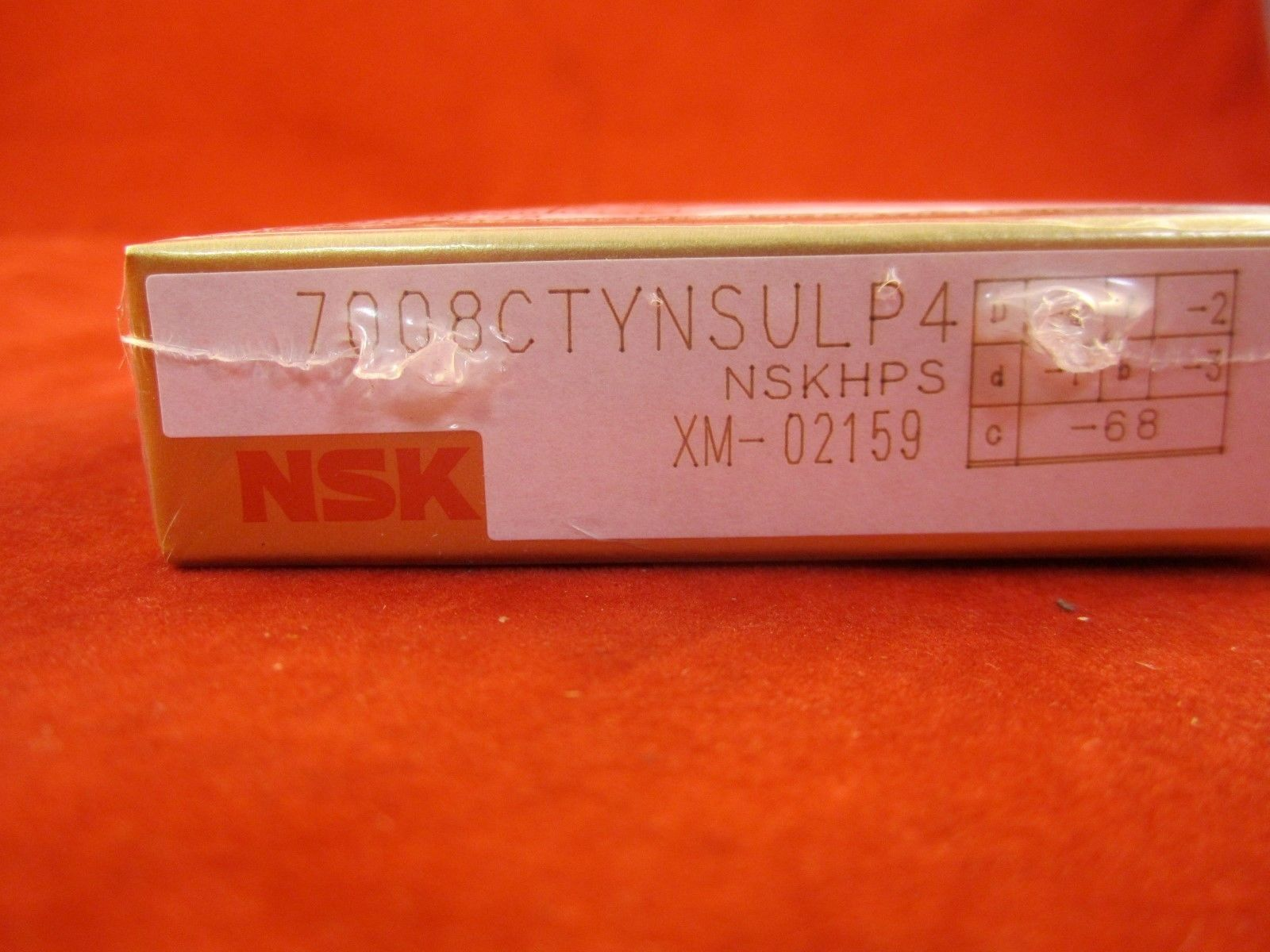 high temperature NSK Super Precision Bearing 7008CTYNSULP4