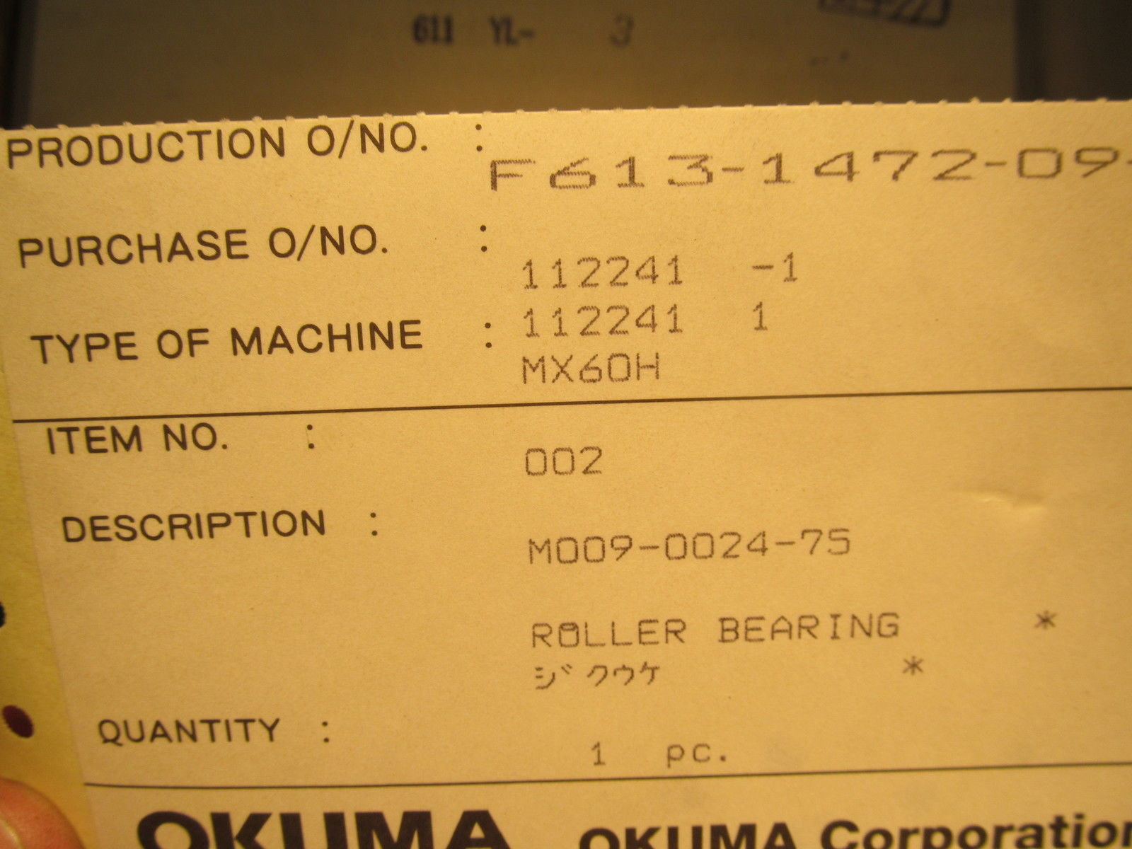 high temperature NIB NSK Bearing for OKUMA Machine NN3020MBKRCC1UPFXU10 M009-0024-75 FREE SHIP