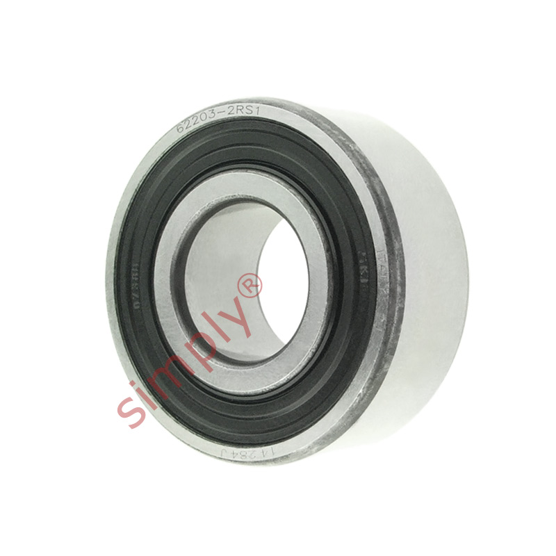 high temperature SKF 622032RS1 Rubber Sealed Deep Groove Ball Bearing 17x40x16mm