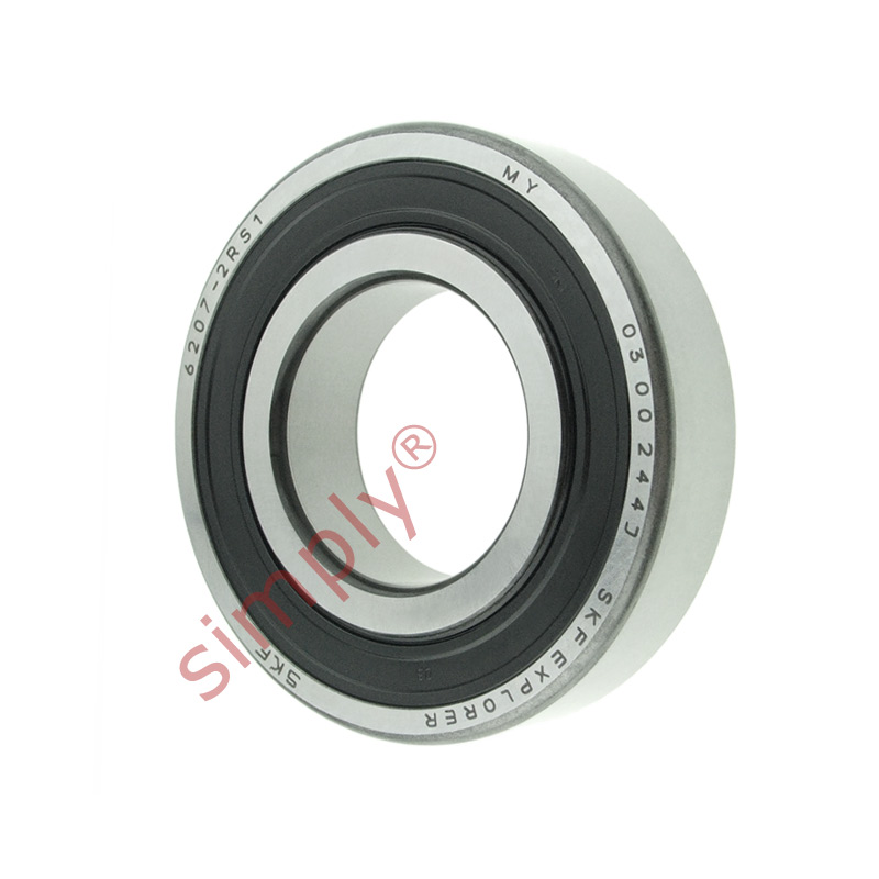 high temperature SKF 62072RS1 Rubber Sealed Deep Groove Ball Bearing 35x72x17mm