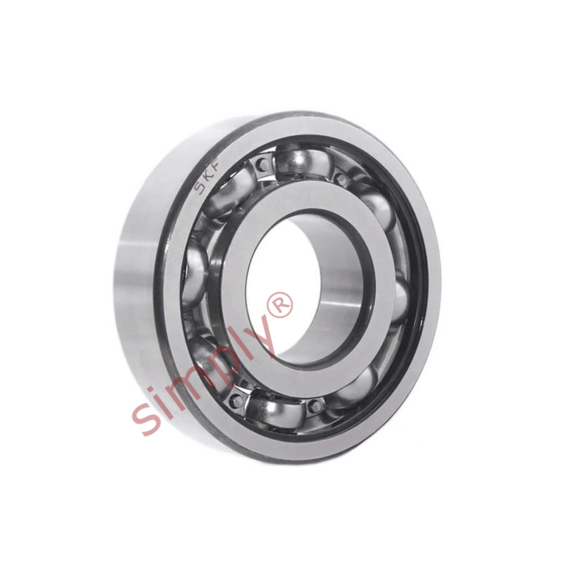 high temperature SKF 6003TN9C3 Open Deep Groove Ball Bearing with Glass Fibre Cage 17x35x10mm