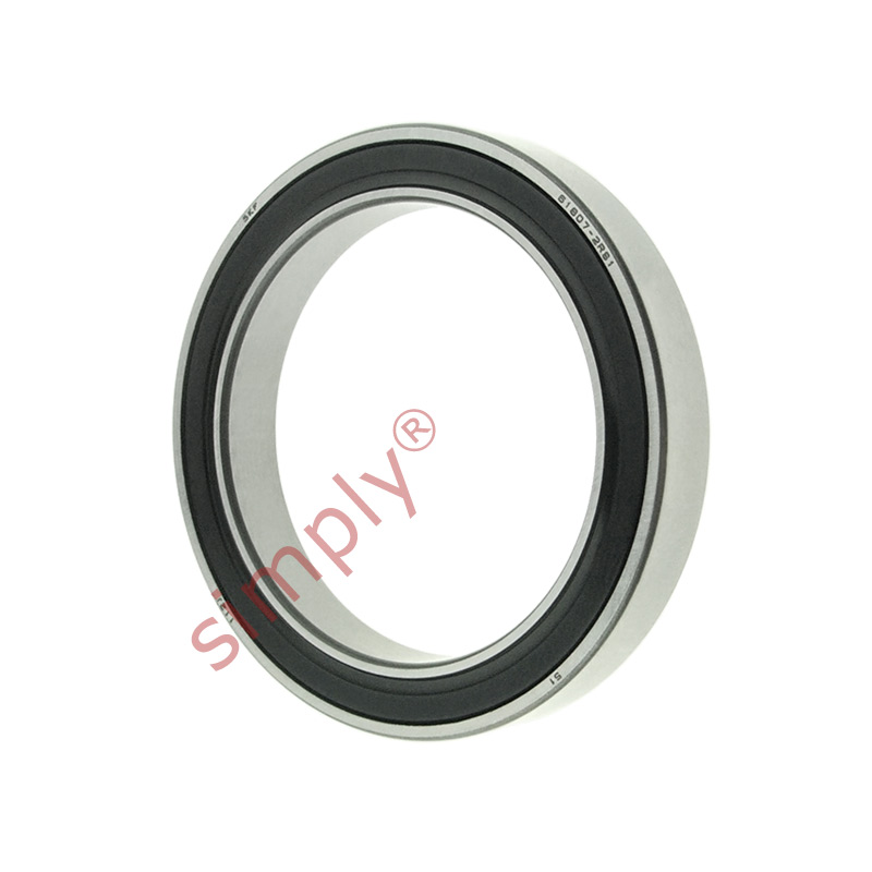 high temperature SKF 618072RS1 Rubber Sealed Thin Section Deep Groove Ball Bearing 35x47x7mm