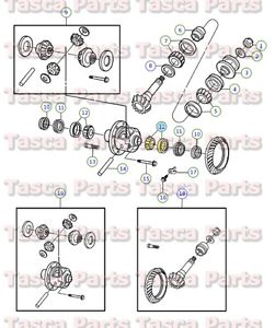 high temperature OEM FRONT DIFFERENTIAL SIDE BEARING KIT 2003-2013 DODGE RAM TRUCKS #5086689AA