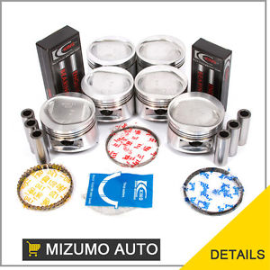 high temperature Mitsubishi 3.0L SOHC 12V 6G72 Pistons Rings Bearings