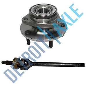 high temperature Dodge Ram 1500 DRIVER SIDE U JOINT Axle + Wheel Hub Bearing Assembly; 4X4