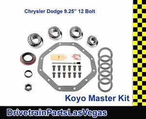 "high temperature Master Bearing Rebuild Overhaul Installatio Kit Dodge 9.25"" 12 Bolt 1995 to 2009"