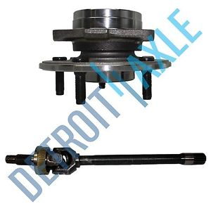high temperature Dodge Ram 1500 PASSENGER SIDE 00-01 U JOINT Axle + Wheel Hub Bearing 4X4; NO ABS