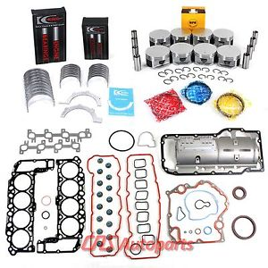 high temperature Engine Rebuild Kit 04-07 Dodge Jeep 4.7L 287 Full Gasket Piston Bearing Ring Set