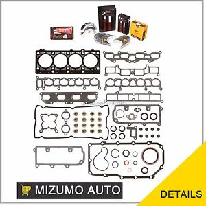 high temperature Full Gasket Set Bearings Rings 96-99 Mitsubishi Eagle Dodge Non-Turbo 2.0 420A
