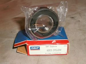 high temperature SKF 6003-2RSJEM SEALED DEEP GROOVE BALL BEARING 60032RSJEM