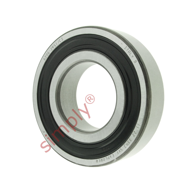 high temperature SKF 62062RS1C3 Rubber Sealed Deep Groove Ball Bearing 30x62x16mm
