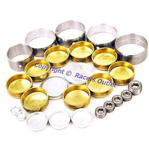 high temperature Brass Freeze Plugs & Cam Bearing Set 1957-1978 Chrysler 273 318 340 360