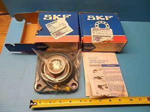 """high temperature 2PCS  SKF FY 1 7/16"""" BORE TM FLANGED BALL BEARING UNIT 4 HOLE BOLT INDUSTRIAL"""
