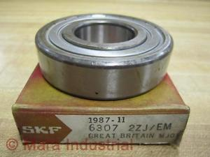 high temperature SKF 6307 2ZJ/EM Ball Bearing
