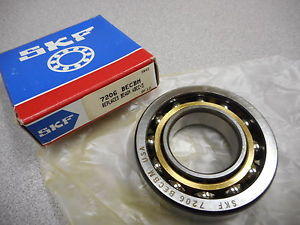 high temperature SKF 7206 BECBM BALL BEARING EXPLORER ANGULAR,CONTACT 30MM BORE DIA. BRASS CAGE