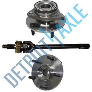 high temperature Dodge Ram Left 1500 1994-1999 U JOINT  Axle + 2  Wheel Hub Bearing Assembly 4X4
