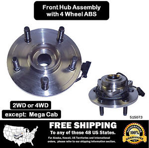 high temperature Premium Front Wheel Hub Bearing Assembly Ram 1500 4 Wheel ABS w/ 2 Yr Warranty
