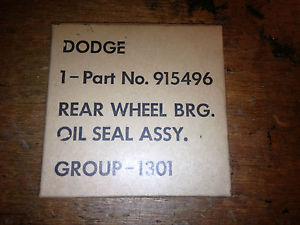 high temperature WWII WC Dodge 1/2 ton and 1 1/2 ton Rear Wheel Bearing Outer Oil Seal Assembly