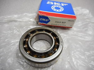 high temperature SKF 7205 BEP RADIAL BALL BEARING,ANGULAR,1 ROW 0.59IN WIDE 2.05IN OD 25MM BORE D
