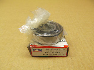 high temperature 1 NIB SKF SKF 6204 2RSJEM 62042RSJEM RADIAL/DEEP GROOVE BALL BEARING 20MM ID