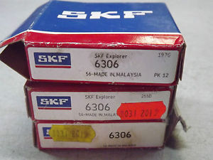high temperature SKF Explorer 6306 Deep groove ball Bearing 30mm Bore 72x19mm out  Lot of 3